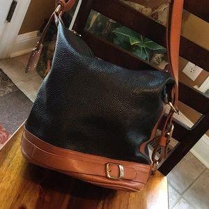 Stunning Valentina leather bucket bag like new!